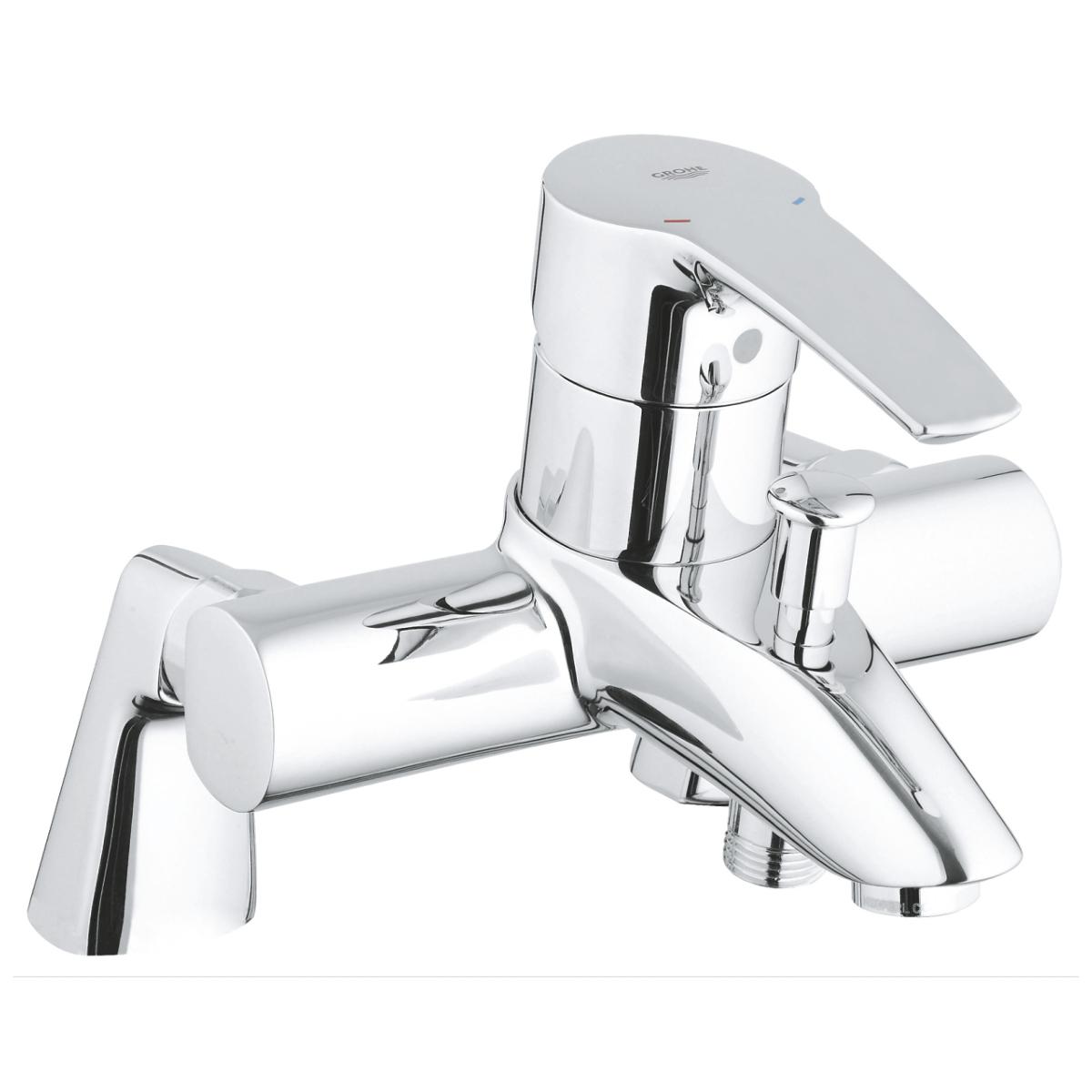 grohe 33612001 mitigeur bain douche eurostyle sur gorge avec raccords colonnettes