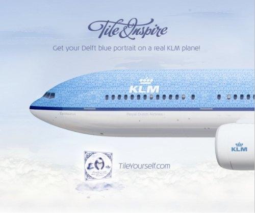 KLM decora fuselaje avión rostros usuarios