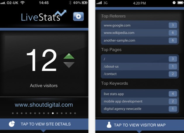 App Store  Live Stats Pro  Real Time Google Analytics Dashboard