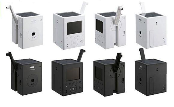 Camara digital que carga manivela