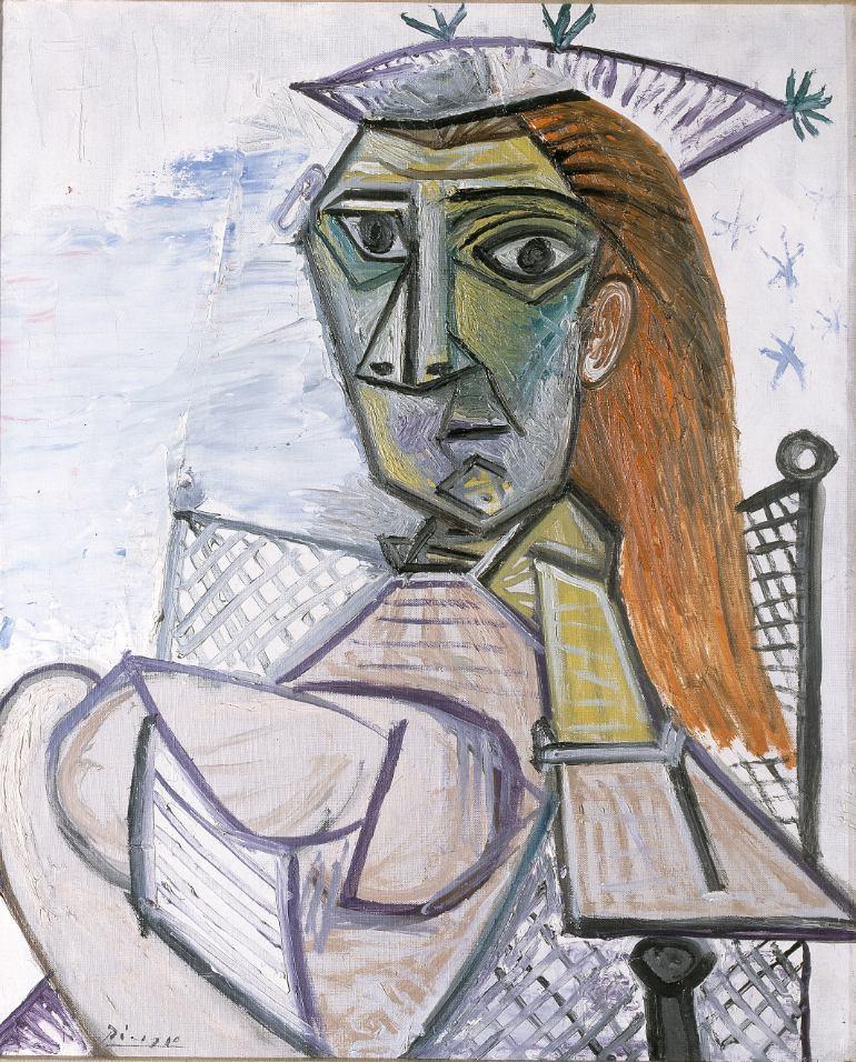 12.Picasso, Femme assise dans un fauteil o