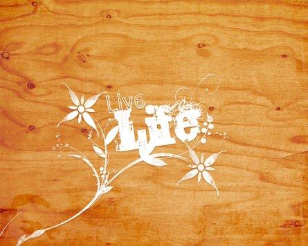 El wallpaper de la semana: Live Life