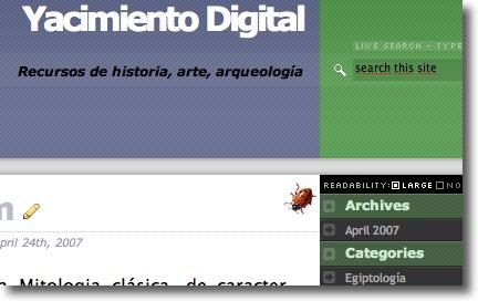 Arranca Yacimiento Digital, un blog de recursos de historia