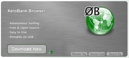 XeroBank, un navegador totalmente anónimo