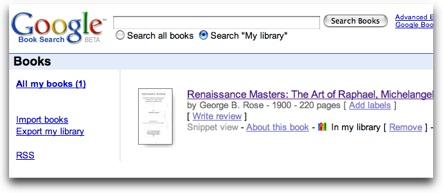 Coleccionando y compartiendo libros en Google Books