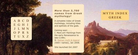 Myth Index, mitología griega y romana