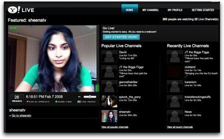 Yahoo Live, crea tu canal de video