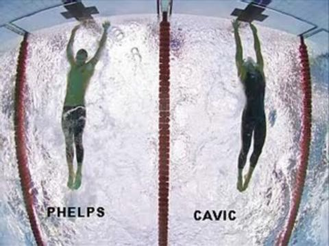 Phelps-Cavic: la foto