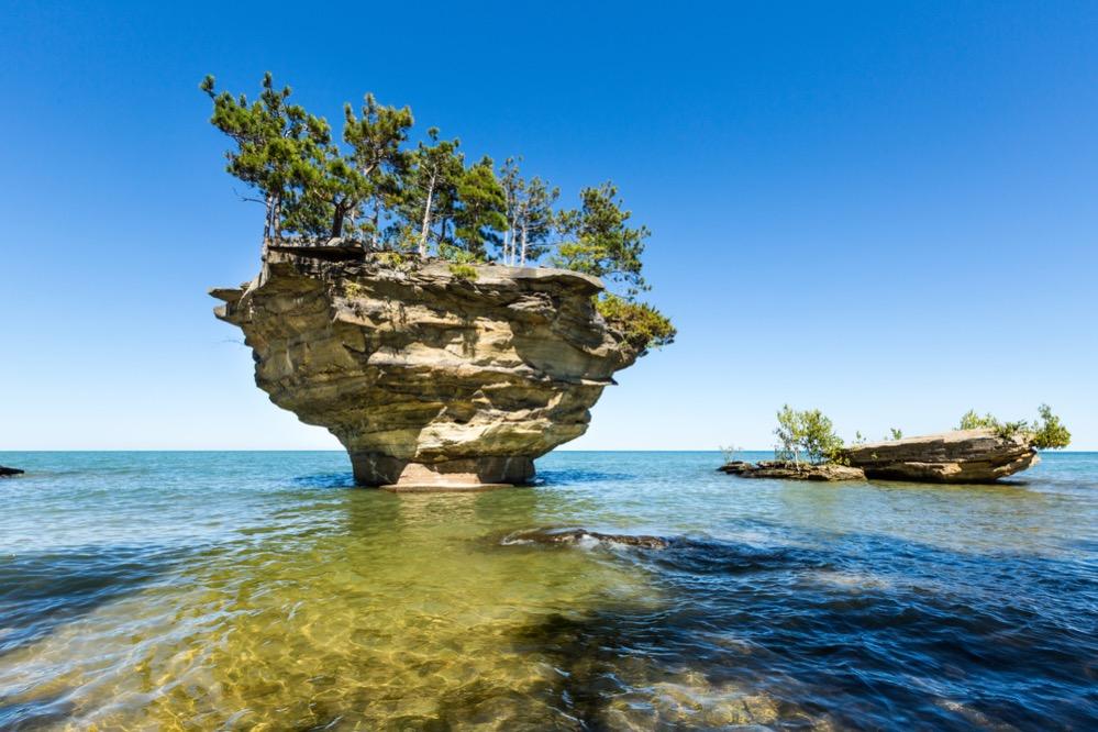 Turnip Rock, el islote más famoso de los Grandes Lagos