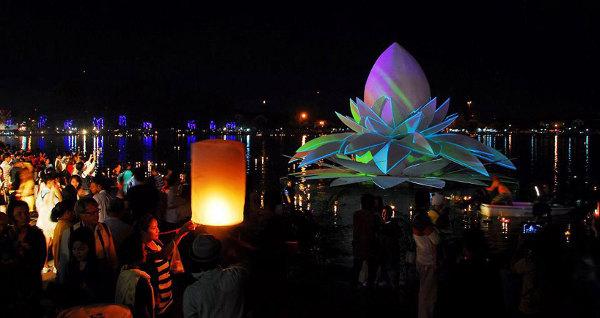 Loi Krathong festival tailandés loto