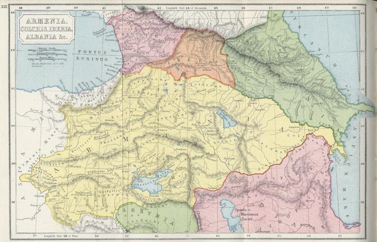Guineas, Iberias y Albanias: lugares geográficos con nombres duplicados