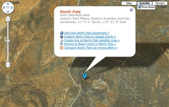 North Pole Map
