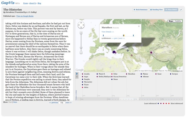 Google Ancient Places: explora los libros de la Antigüedad con mapas