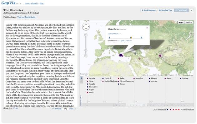 Google Ancient Places: explora los libros de la Antigüedad con mapas
