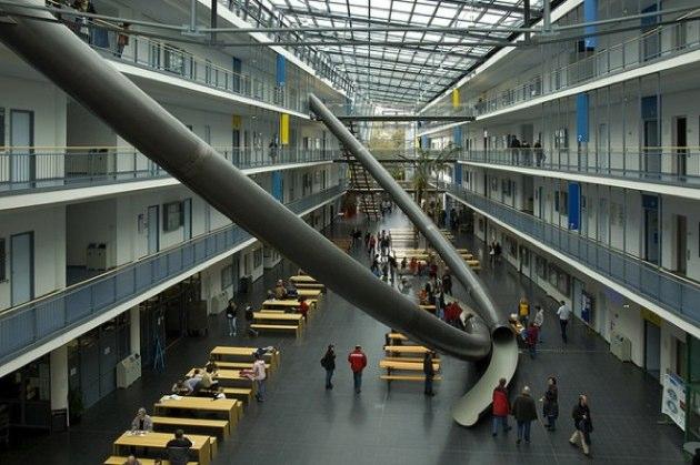 Los toboganes gigantes de la Universidad Técnica de Munich