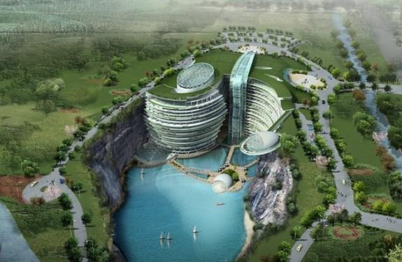 Songjiang Shimao, un hotel de 5 estrellas en una cantera abandonada