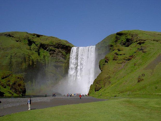La cascada islandesa de Skógafoss
