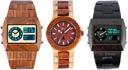 La hora de los relojes de madera