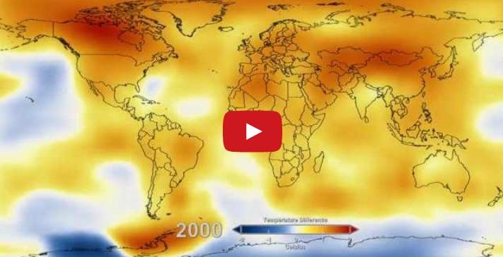 62 años de calentamiento global en 13 segundos