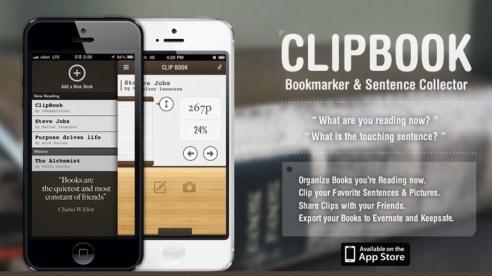 Clipbook, marcador de libros y anotaciones en el iPhone