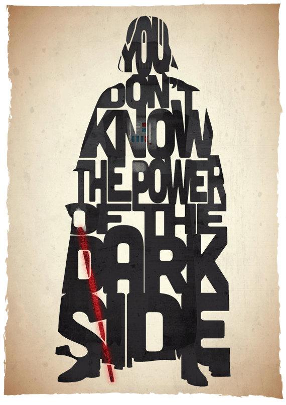 Posters tipográficos de películas