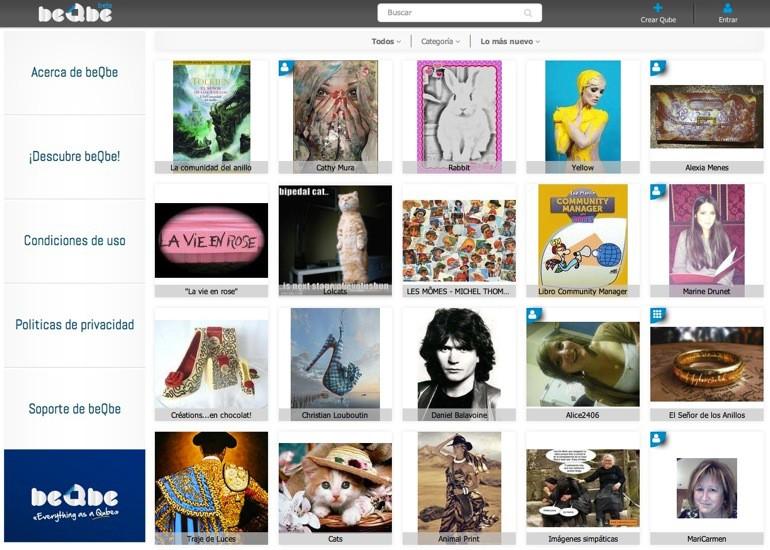 beQbe, la red social para compartir cápsulas de información