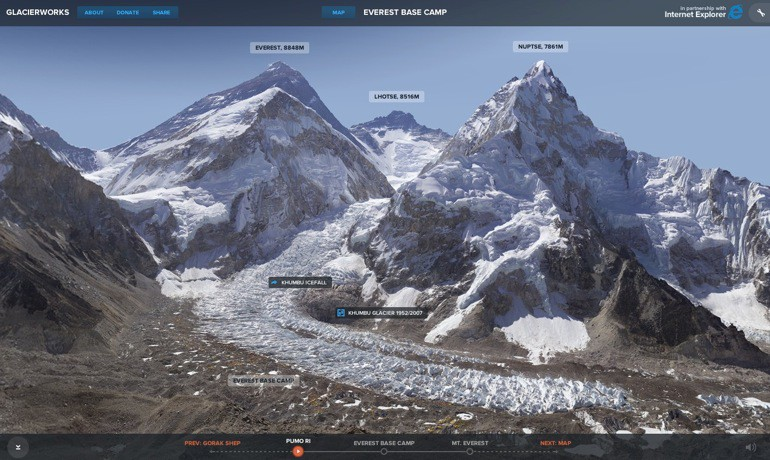Rivers of Ice: el Everest interactivo