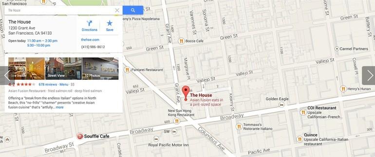 Dónde está la trampa de Google Maps?