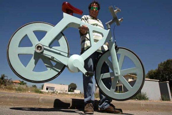 Busca inversor fabricar bicicleta cartón