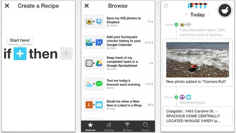 ifttt llega al iPhone como aplicación