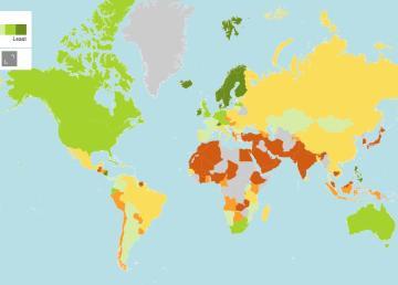 El mapa mundial de los derechos de las mujeres