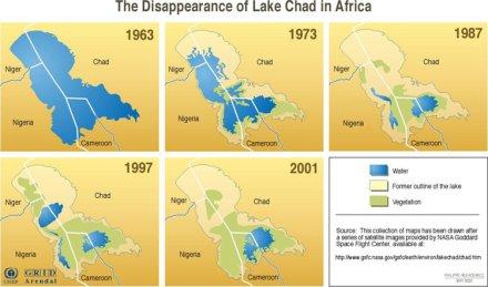 La desaparición del Lago Chad