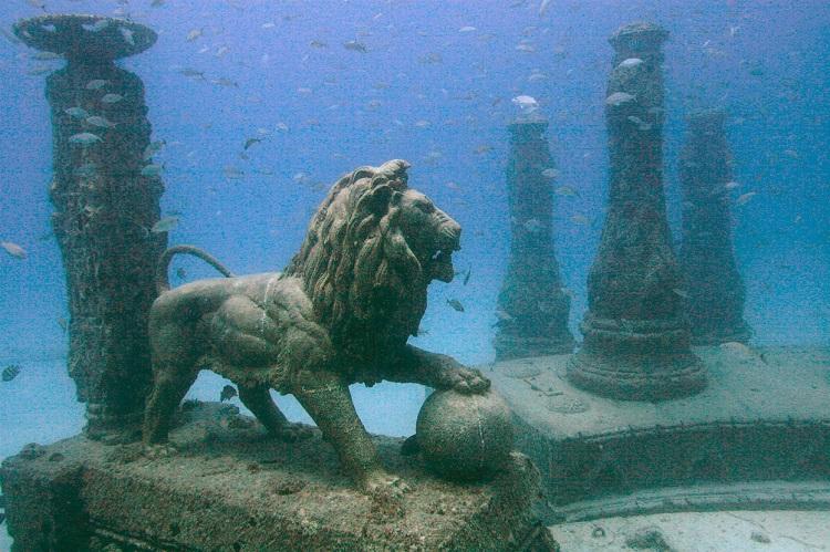 Un arrecife artificial convertido en cementerio submarino