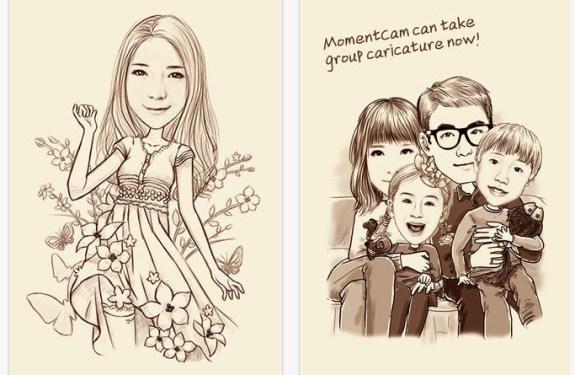 Conviértete en un cartoon con MomentCam para iPhone