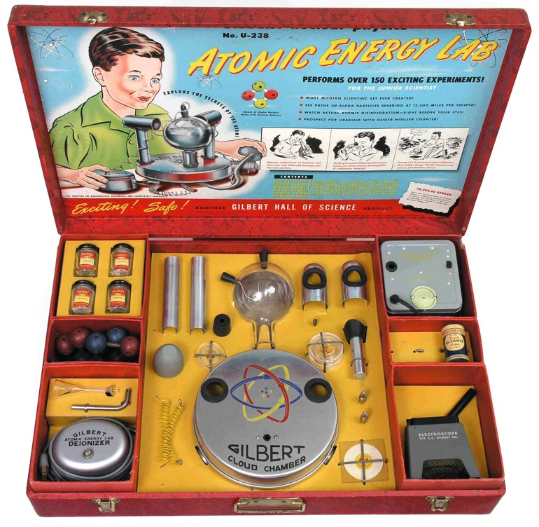 U-238 Atomic Energy Lab, el kit infantil con uranio