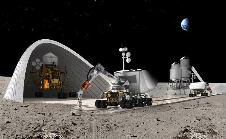 La NASA quiere construir bases lunares con impresoras 3D