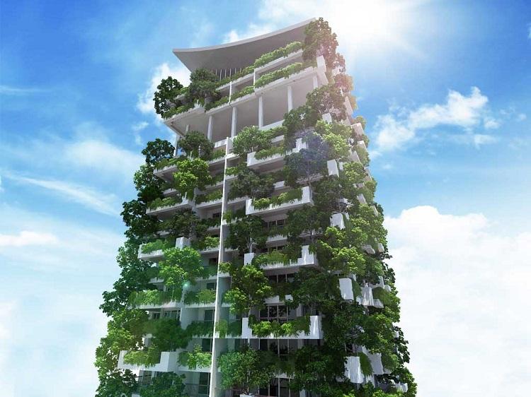 Un edificio de Sri Lanka será el jardín vertical más alto del mundo 1