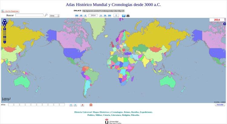 Los mayores mapamundis de Historia y Literatura en Internet (I)