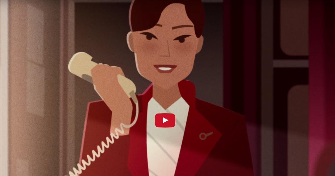 El corto animado sobre seguridad en vuelo de Virgin Atlantic