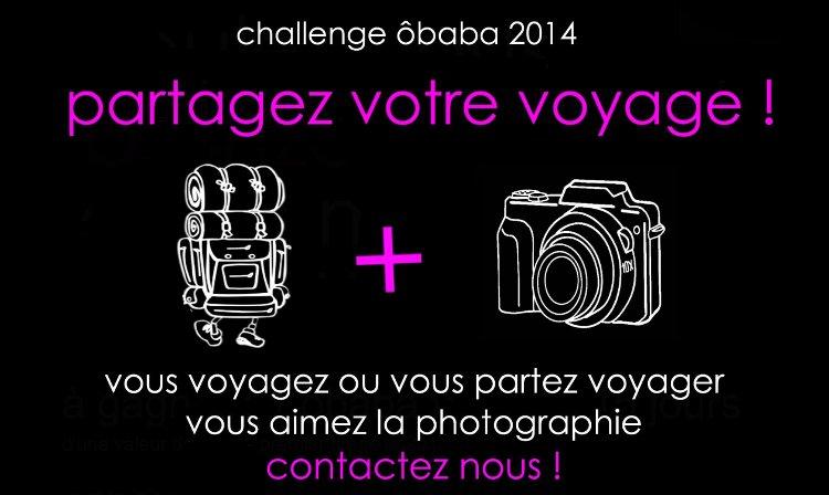 Challenge Ôbaba 2014: un concurso para promocionar tu blog de viajes