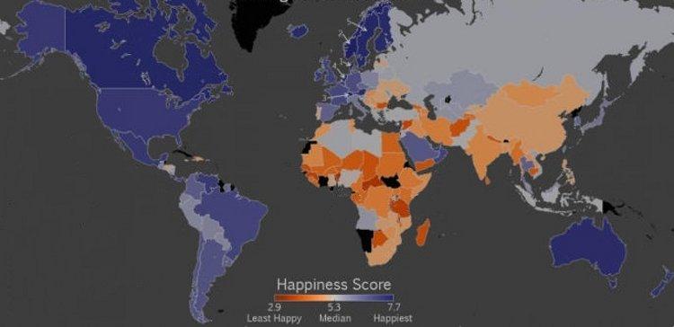 Mapa mundial de la felicidad 1