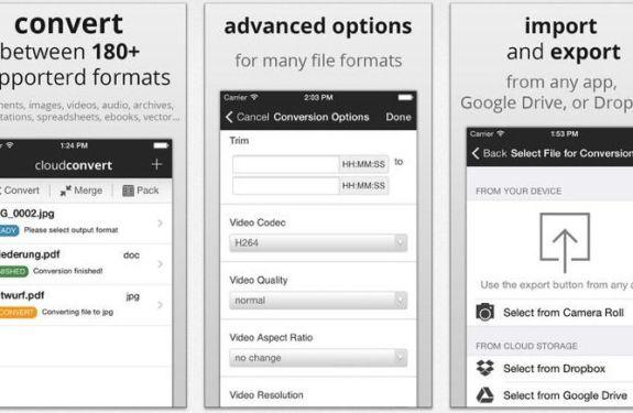CloudConvert, el conversor de archivos gratuito para iOS