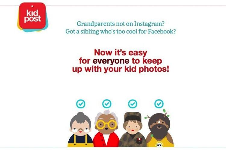 Kidpost envía las actualizaciones de Facebook a los familiares que no usan Facebook