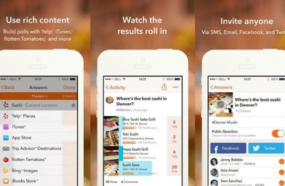 Creando encuestas en el iPhone con Three Cents