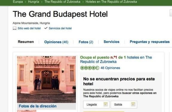 Opiniones sobre el Gran Hotel Budapest
