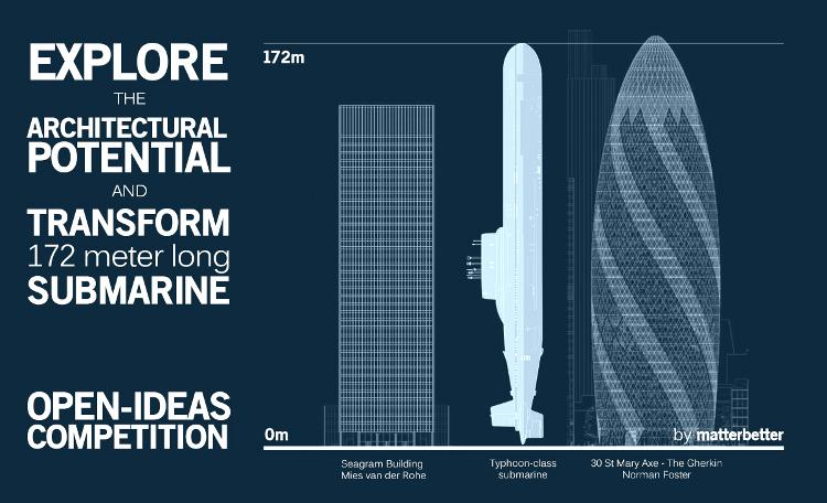Concurso para reaprovechar un submarino nuclear como edificio