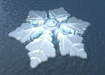 Un fantástico hotel ártico con forma de cristal de hielo 2