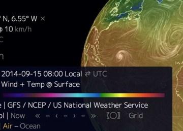 Mapa interactivo con el clima de cualquier punto de la Tierra en tiempo real 2