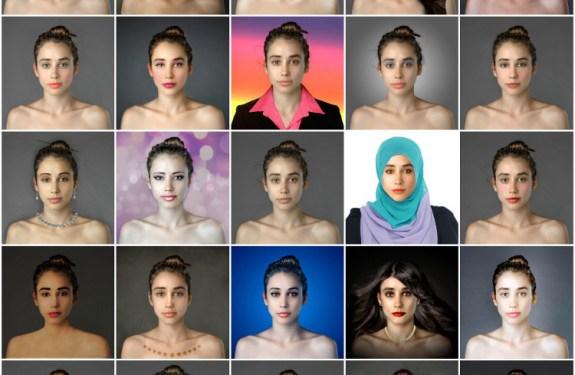 Cánones de belleza de todo el mundo a través del retoque de una foto 2