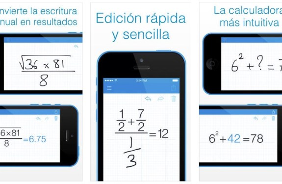 MyScript Calculator: la aplicación que resuelve operaciones matemáticas escritas a mano